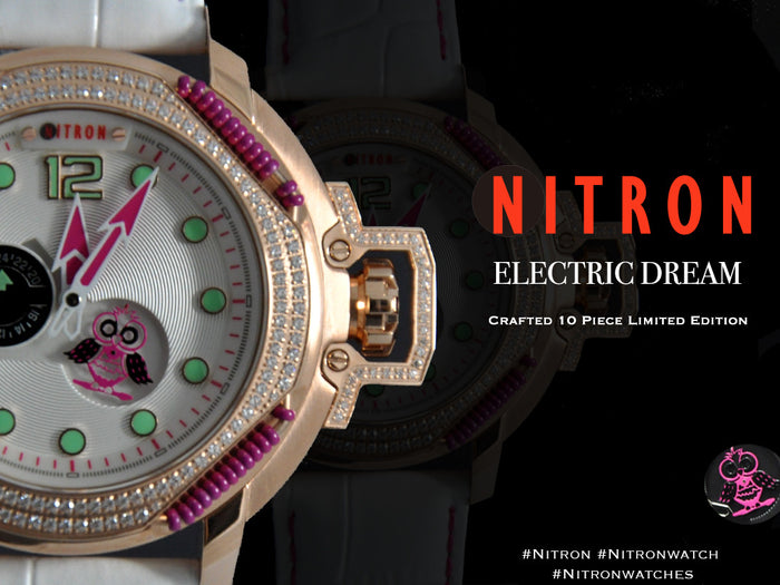 Nitron Electric Dream with Swarovski/ White