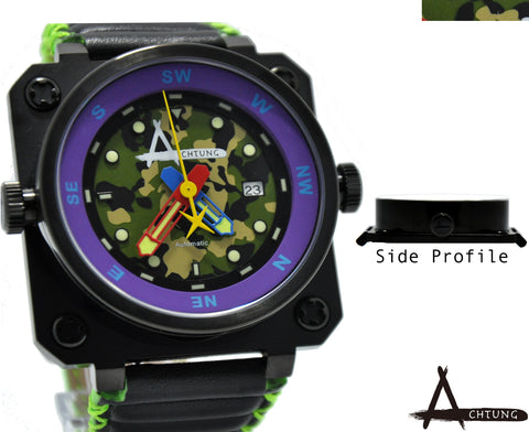 Achtung Camo series/ Black and Purple