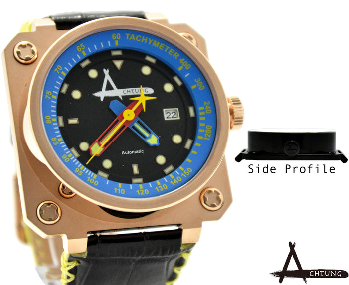 Achtung Classic series/ Rose Gold and Blue