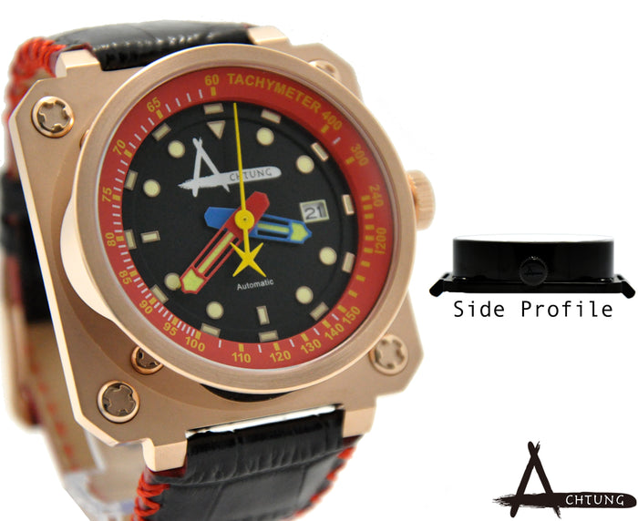 Achtung Classic series/ Rose Gold and Red