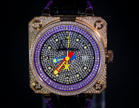 Achtung Classic Pave Rose Gold /  Purple