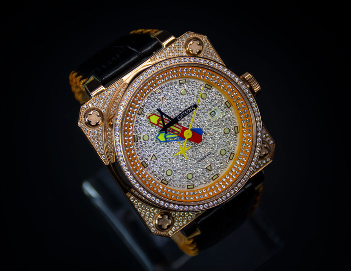 Achtung Classic Pave Rose Gold / Orange