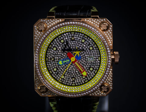Achtung Classic Pave Rose Gold /  Yellow
