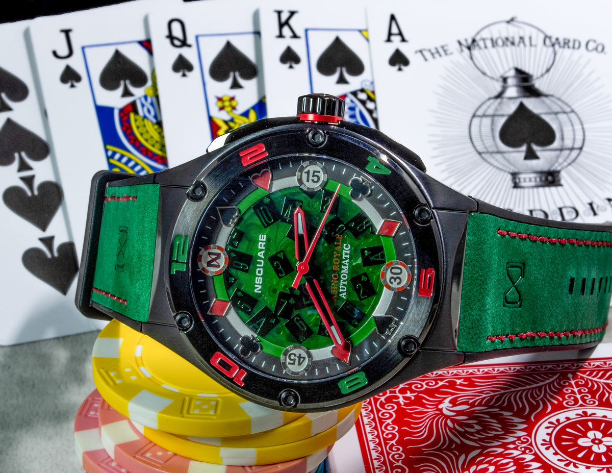 NSQUARE CASINO ROYALE / Green & Black
