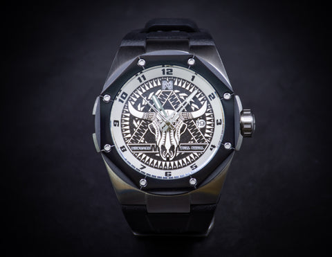 Nsquare The Bull Skull/ Steel Black