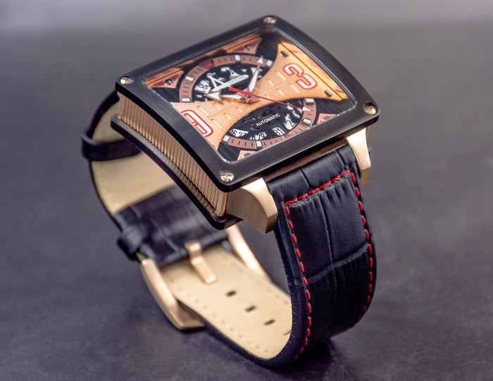 Achtung Timebox Black / Rose Gold