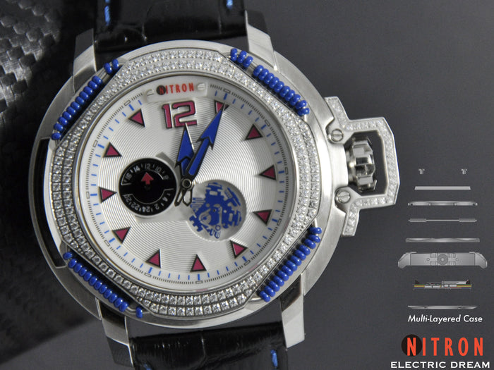 Nitron Electric Dream with Swarovski/ White and Blue