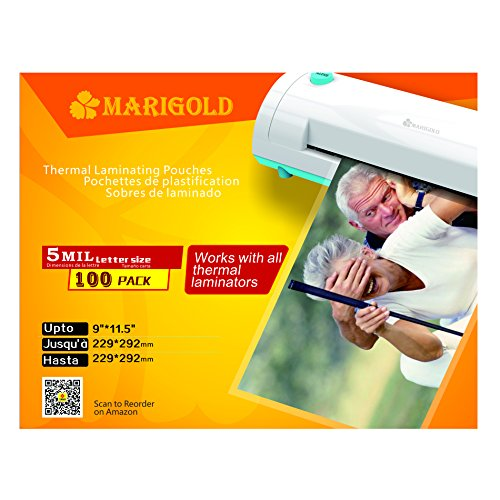 MARIGOLD Thermal Laminating Pouches 205-Count Pack 5 mil Letter Size, 9