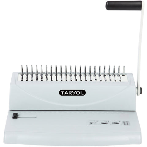 TARVOL 19-Hole Letter Size Comb Ring Binding Machine Paper Punch Book Binder with Starter Kit - 100 1/4