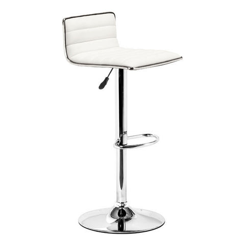 Zuo 300219 Equation Barstool White - ZModernStore