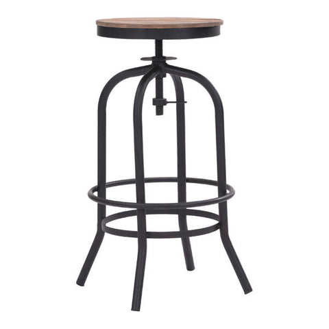 Zuo 98183 Twin Peaks Barstool Distressed Natural - ZModernStore - 1