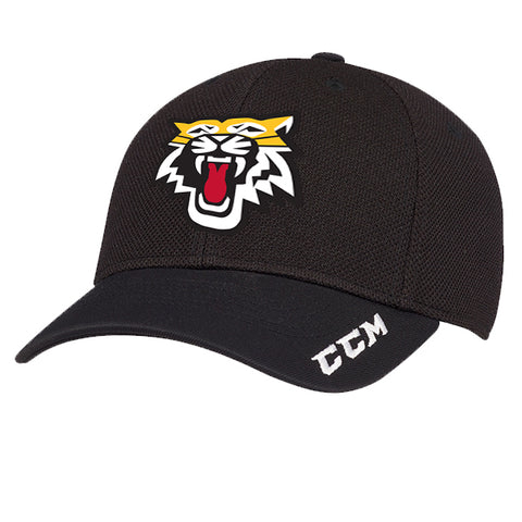 CCM Team Training Textured  Flex Fit Fitted Cap - Aurora Tigers ADULT