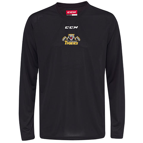 CCM Long Sleeve Training Tech Top - Aurora Tigers ADULT