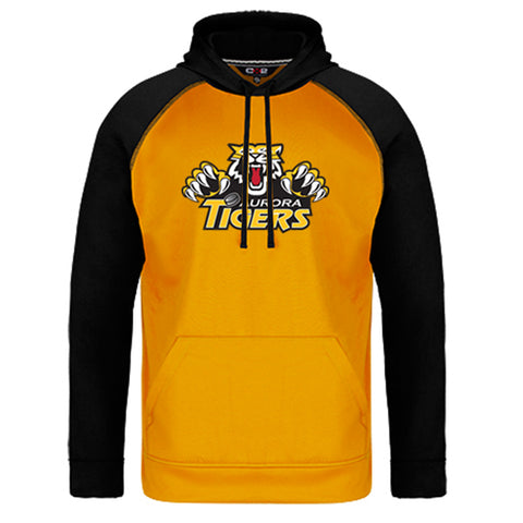 Colour Block Pullover Fleece Hoody - Aurora Tigers ADULT