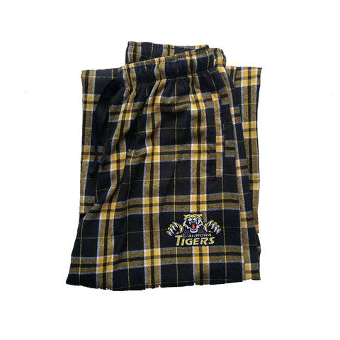 Tigers Flannel Pajama Pants - Aurora Tigers ADULT
