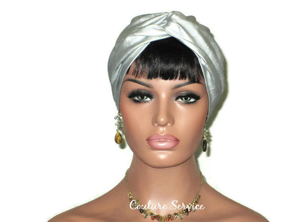 Handmade Leather Turban, Silver - Couture Service  - 1