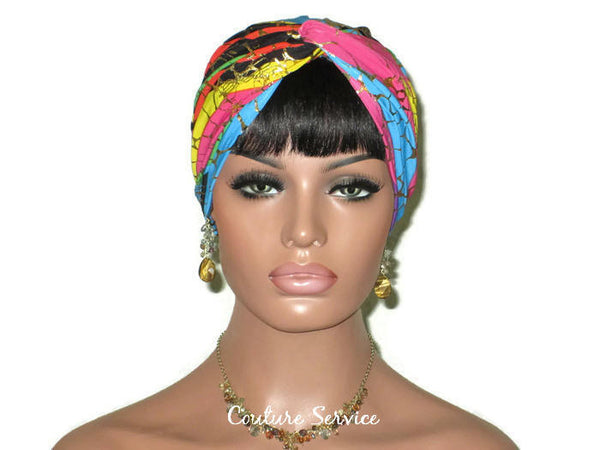 Handmade Metallic Gold Twist Turban, Rainbow Stripe - Couture Service  - 1