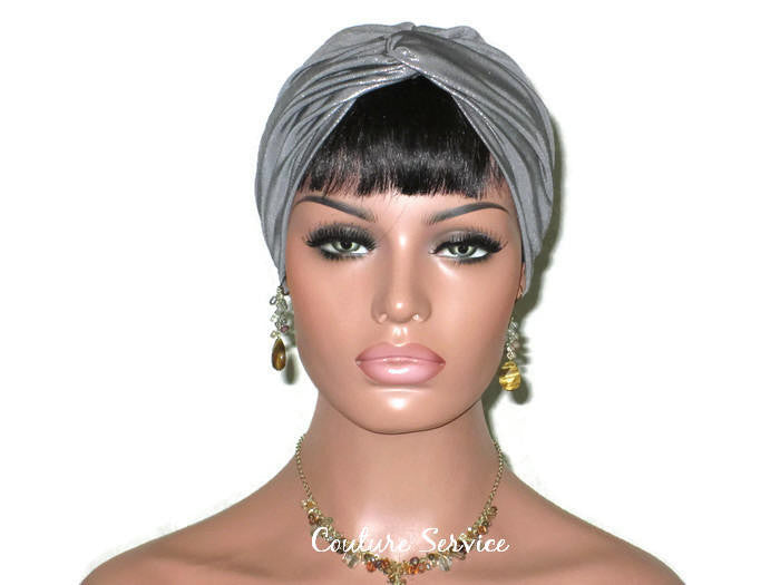 Handmade Silver Twist Turban, Metallic - Couture Service  - 1