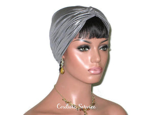 Handmade Silver Twist Turban, Metallic - Couture Service  - 2