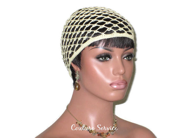 Handmade Open Lace Cloche, Pale Yellow