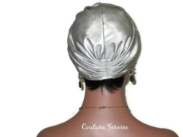 Handmade Leather Turban, Silver - Couture Service  - 3