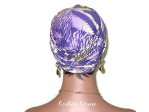 Handmade Lavender Twist Turban, Animal Print, Lime - Couture Service  - 3