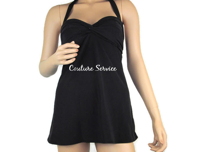 Handmade Two Piece Swimwear Dress, Black