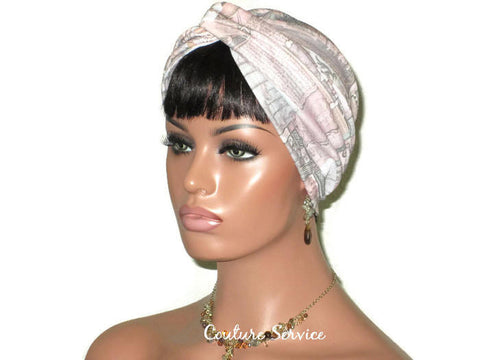 Handmade Taupe Twist Turban, Multi Colored - Couture Service  - 1
