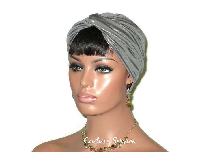 Handmade Silver Twist Turban, Metallic - Couture Service  - 4