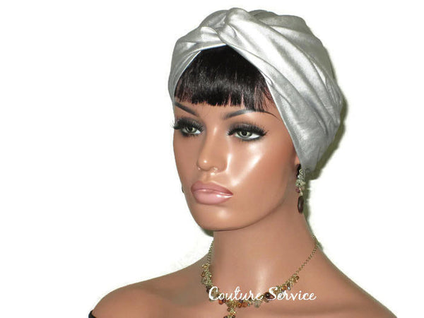 Handmade Leather Turban, Silver - Couture Service  - 4