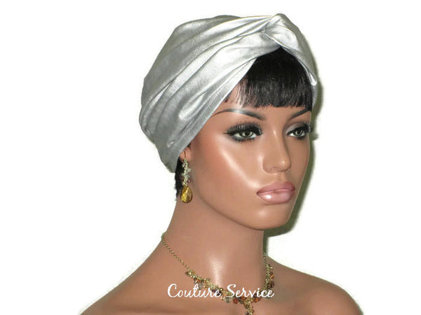 Handmade Leather Turban, Silver - Couture Service  - 2