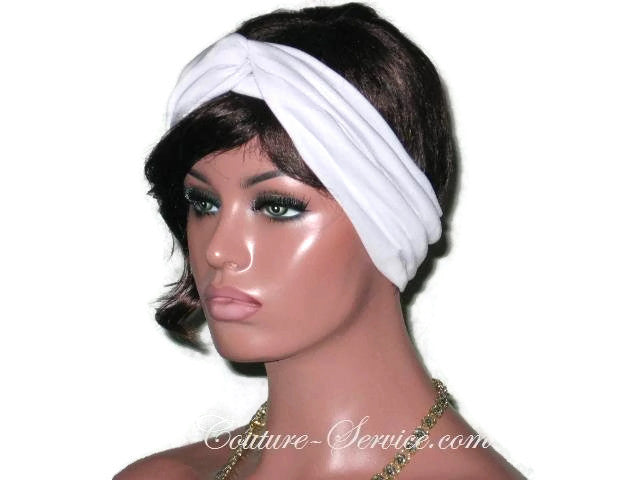 Handmade Grey Bisque Bandeau Headband Turban - Couture Service  - 1