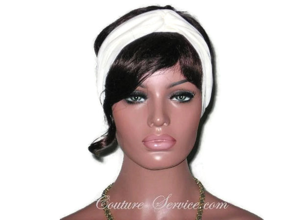 Handmade Grey Bisque Bandeau Headband Turban - Couture Service  - 2