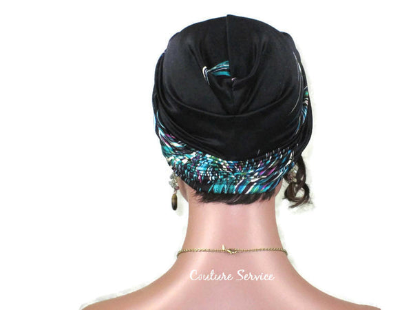 Handmade Black & Fuchsia Twist Turban