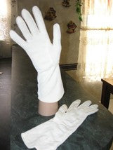 Vintage Cut-Out Dress Gloves White Size S - Couture Service  - 2