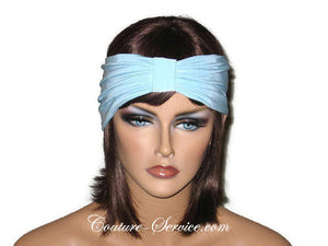 Handmade Blue Knot Headband Turban, Powder - Couture Service  - 1