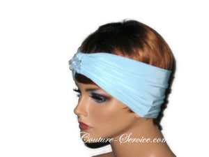 Handmade Blue Knot Headband Turban, Powder - Couture Service  - 2