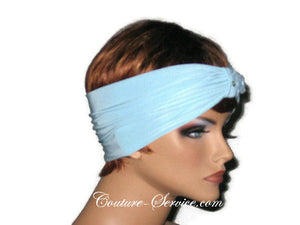 Handmade Blue Knot Headband Turban, Powder - Couture Service  - 4
