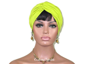 Handmade Green Twist Turban, Lime Rayon