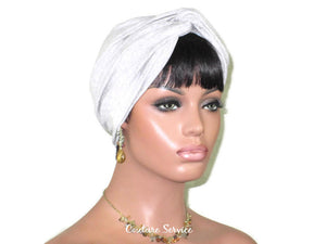 Handmade Heather Grey Cotton Lycra Twist Turban