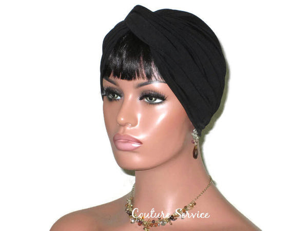 Handmade Black Twist Turban - Couture Service  - 1