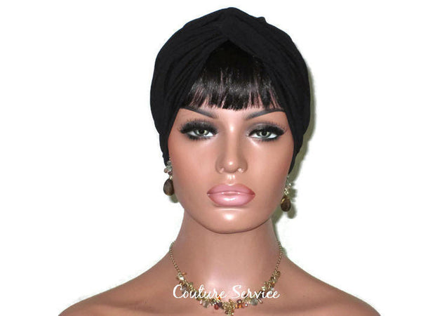 Handmade Black Twist Turban - Couture Service  - 2