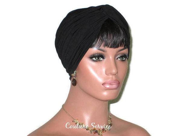 Handmade Black Twist Turban - Couture Service  - 3