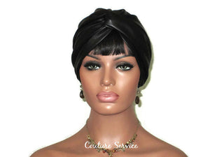 Handmade Leather Turban, Black - Couture Service  - 2
