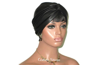 Handmade Leather Turban, Black - Couture Service  - 1
