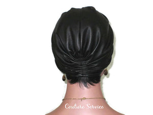 Handmade Leather Turban, Black - Couture Service  - 4