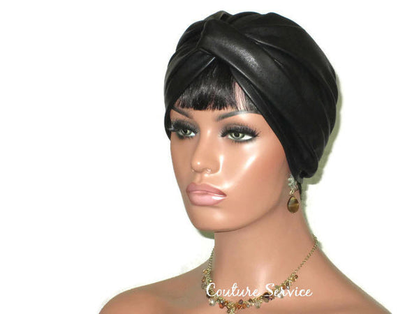 Handmade Leather Turban, Black - Couture Service  - 3