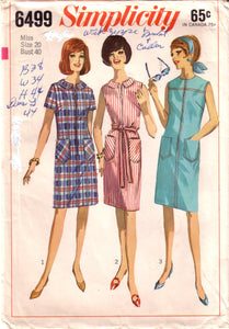 Vintage Simplicity 6499, Misses and Women's Dress, Size 20