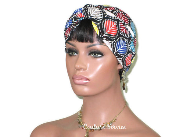 Handmade Black Multicolored Twist Turban