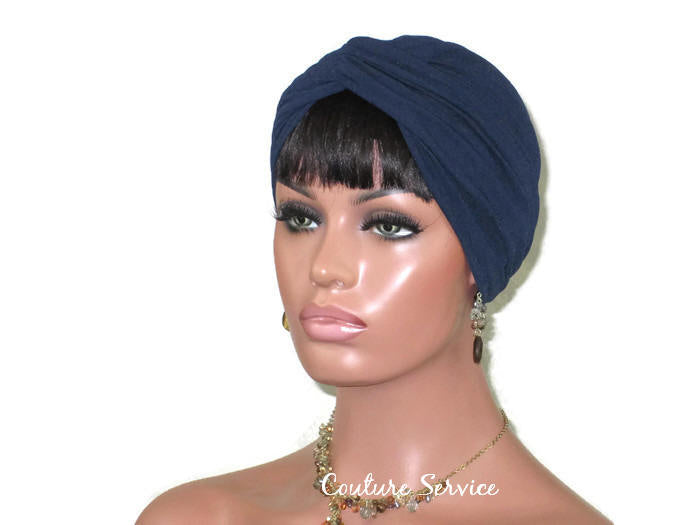 Handmade Blue Twist Turban, Navy